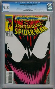Spectacular Spider-man #203 CGC 9.8 Maximum Carnage Pt 13 Venom Marvel comic book